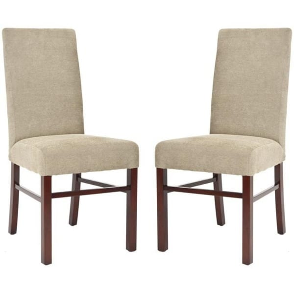 Safavieh Parsons Dining Parsons Sage Cotton Side Chairs (Pack of 2)