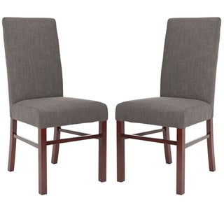 Safavieh Classical Parsons Charcoal Cotton Side Chairs (Pack of 2)