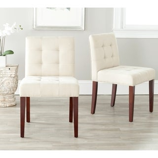 Safavieh Chic Cream Tufted Cotton Side Chairs (Set of 2)