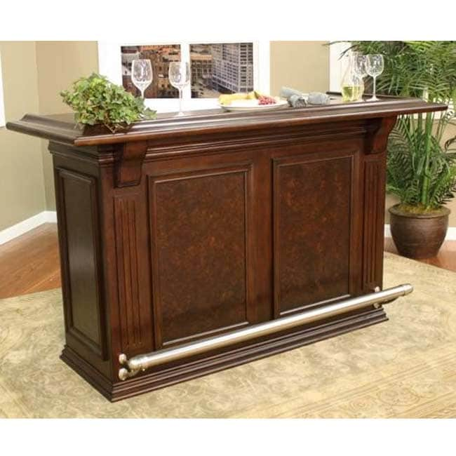 Willow 74 Inch Wood Home Bar Overstock Shopping Big