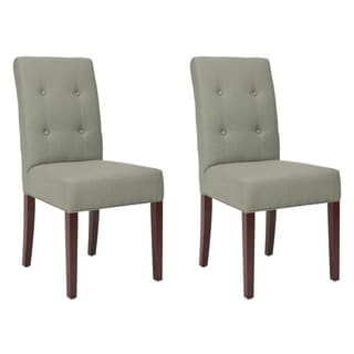 Safavieh Metro Tufted Grey Linen Side Chairs (Set of 2)