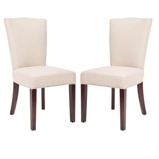 Safavieh Elegance Beige Linen Side Chairs (Set of 2)