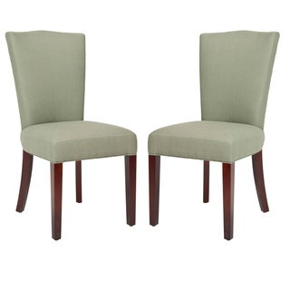Safavieh Elegance Grey Linen Side Chairs (Set of 2)