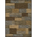 Illusion Power-loomed Bricks Blue Rug (7'10 x 9'10)