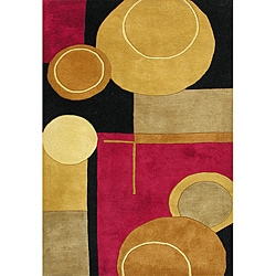 Alliyah Handmade Black New Zealand Blend Wool Rug