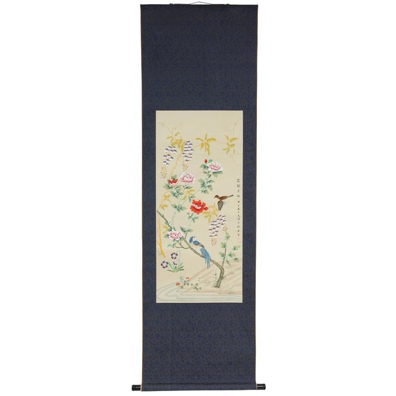 Silk Birds and Peony Scroll (China)