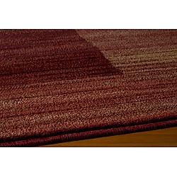 Power-loomed Illusion Red Bricks Rug (7'10 x 9'10)