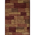 Power-loomed Illusion Red Bricks Rug (9'3 x 12'6)
