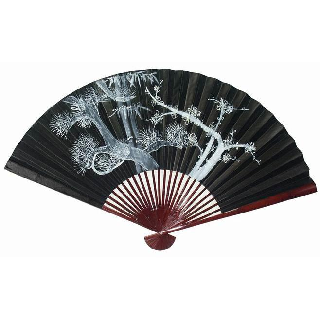Silk Large White Tree Wall Fan China
