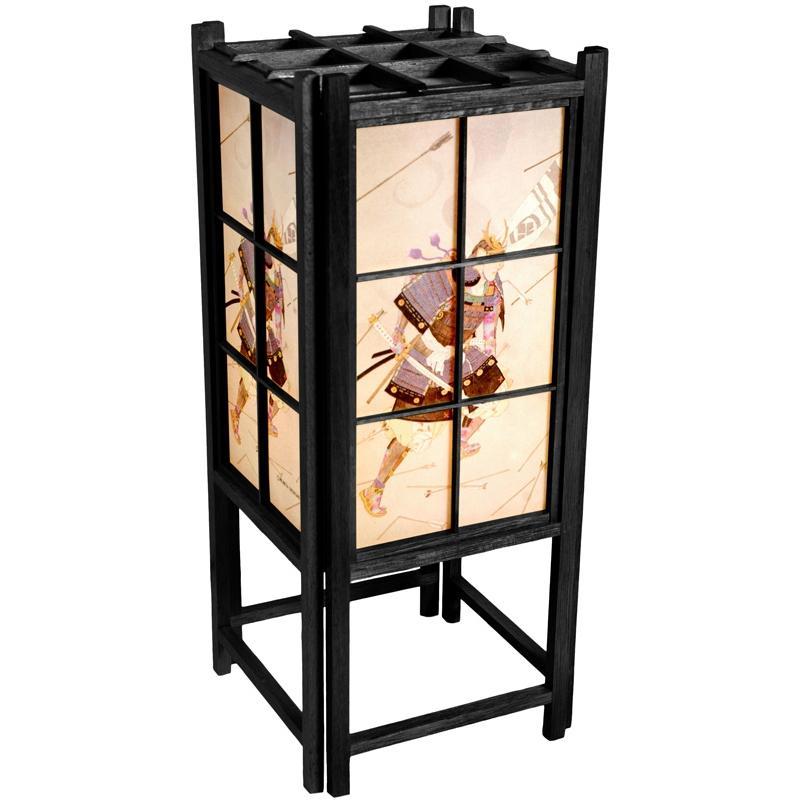 Wood and Rice Paper 18-inch Samurai Shoji Lamp (China)