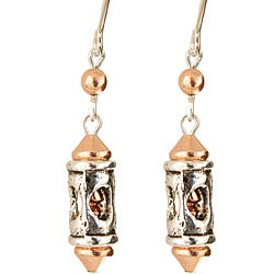 Silver and Copper 'Romanesque' Earrings