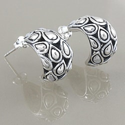 Sterling Silver Teardrop Post Earrings (Indonesia)