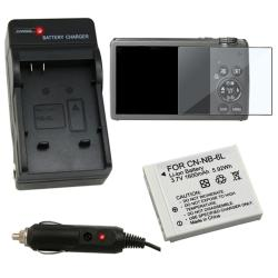 3-piece Battery/ Charger/ Screen Protector for Canon S95