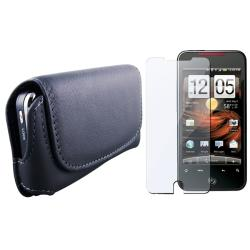 Horizontal Leather Case/ Screen Protector for HTC Droid Incredible