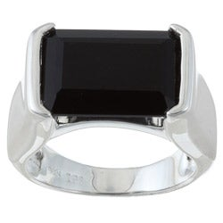 Gems For You Sterling Silver Black Onyx Ring