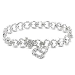 Haylee Jewels Sterling Silver 1/2ct TDW Diamond Bracelet (H-I, I3)