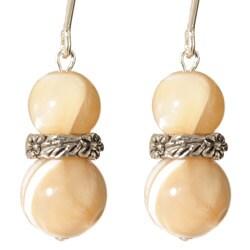Sterling Silver 'Otekah' Mother of Pearl Earrings