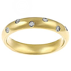 Goldplated Stainless-steel White Cubic Zirconia Ring