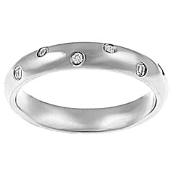 Stainless Steel Cubic Zirconia-accented Ring