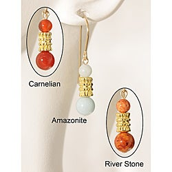 Yazhi' Gemstone 14k Gold Fill<br>Earrings