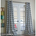 Pebbles Faux Silk Grommet Curtain Panel