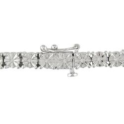 M by Miadora Sterling Silver 1/4ct TDW Diamond Bracelet (H-I, I3)