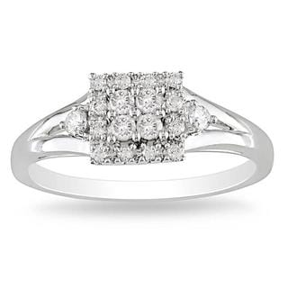Miadora 10k Gold 1/4ct TDW Multi Stone Diamond Ring (G-H, I2-I3)