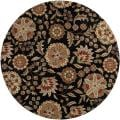 Hand-tufted Whimsy Black Wool Rug (6' Round)