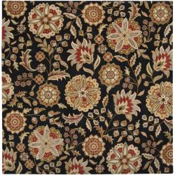 Hand-tufted Whimsy Black Wool Rug (6' Square)