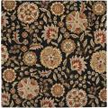 Hand-tufted Whimsy Black Wool Rug (8' Square)