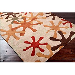 Hand-tufted Whimsy Off Beige Wool Rug (4' x 6')