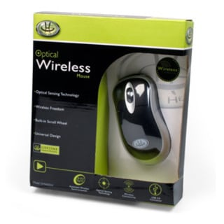 Gear Head Optical Wireless Mouse
