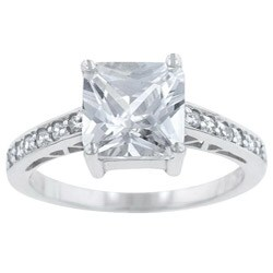 Kate Bissett Sterling Silver Cubic Zirconia Engagement Ring