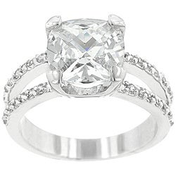Kate Bissett Silvertone Cubic Zirconia Engagment Ring