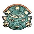 Copper 'Warrior's Courage' Mask (Peru)