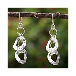 Sterling Silver 'Dance' Drop Earrings (Peru)