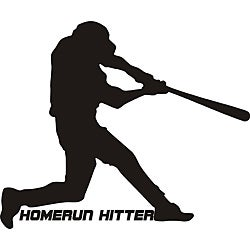 Decorative 'Homerun hitter' Vinyl Wall Art Quote