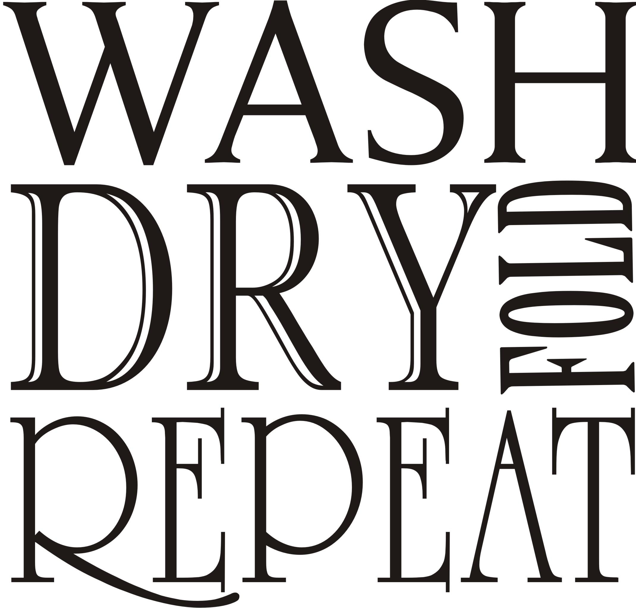 Overstock.com Decorative 'Wash Dry Fold Repeat' Vinyl Wall Art Quote at Sears.com