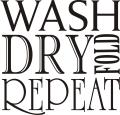 Decorative 'Wash Dry Fold Repeat' Vinyl Wall Art Quote