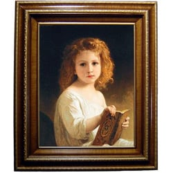 Bouguereau The Story Book Framed Canvas
