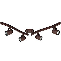 Nuvo Russet Bronze 4-light Swivel Track Kit