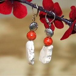 Susen Foster Silverplated Desert Blossom Multi-gemstone Earrings