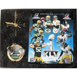 Packers and Steelers Super Bowl XLV Clock