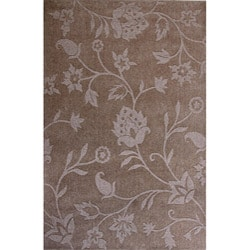 Hand-woven Natural Lotus Blended Wool Rug (5' x 8')