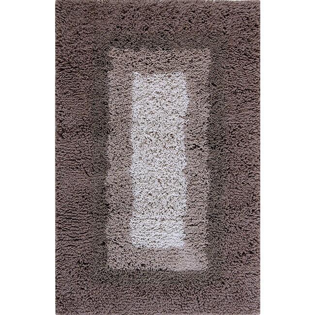 Hand-tufted Modern Shaggy Wool Rug (8' x 10')