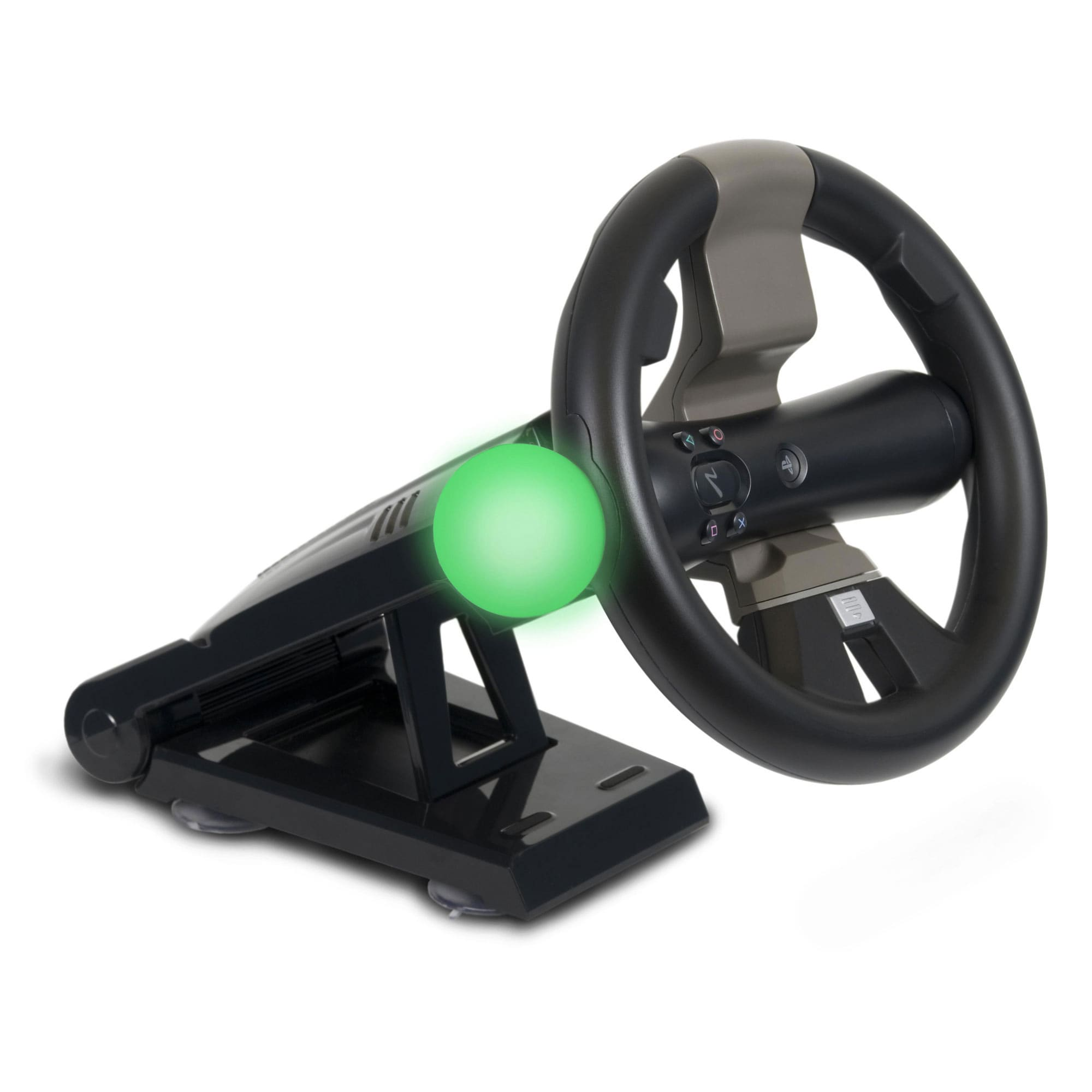 PlayStation Move and DualShock Racing Wheel with Stand