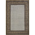 Hand-knotted Mandara Brown New Zealand Wool Rug (7'9 x 10'6)