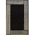 Hand-tufted Geometric Black Mandara Rug (5' x 7'6)