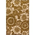 Hand-tufted Mandara Floral Gold New Zealand Wool Rug (7'9 x 10'6)