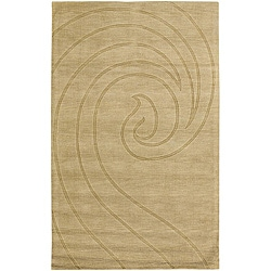 Hand-tufted Mandara Gold New Zealand Wool Rug (7' x 10')